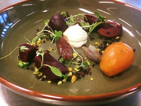 beetroot salad with hung yoghurt